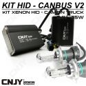 1 KIT H4 P43T BI-XENON 24V DE CONVERSION AMPOULE HID XENON ANTI ERREUR CANBUS V2 CONVERTISSEUR 35W 5.5AMP 9~32V POUR CAMION
