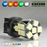 1 AMPOULE LED 12V T20 7443 TYPE W21/5W 21 LED SMD 5050 CANBUS ANTI ERREUR ODB