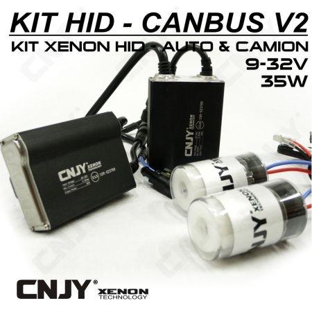 1 KIT H9 PGJ19-5 24V DE CONVERSION AMPOULE HID XENON ANTI ERREUR CANBUS V2 CONVERTISSEUR 35W 5.5AMP 9~32V POUR CAMION TRACTEUR