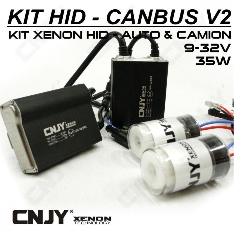 1 KIT H13 9008 24V DE CONVERSION AMPOULE HID XENON ANTI ERREUR CANBUS V2 CONVERTISSEUR 35W 5.5AMP 9~32V POUR CAMION TRACTEUR