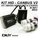 1 KIT H27 880 881 24V DE CONVERSION AMPOULE HID XENON ANTI ERREUR CANBUS V2 CONVERTISSEUR 35W 5.5AMP 9~32V POUR CAMION TRACTEUR