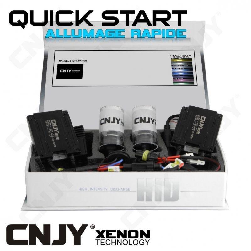 KIT XENON H8 PGJ19-1 QUICK START HID 35W 24V BALLAST SLIM CNJY A ALLUMAGE INSTANTANE - KIT STANDARD POUR CAMION