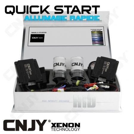 KIT XENON H27 880 881 QUICK START HID 35W 24V BALLAST SLIM CNJY A ALLUMAGE INSTANTANE - KIT STANDARD POUR CAMION