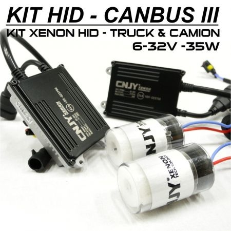 KIT XENON H3 PK22S 24V AMPOULE DE CONVERSION HID ANTI ERREUR CANBUS 3 CONVERTISSEUR 35W 5.5AMP 9~32V POUR CAMION TRACTEUR