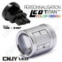1 AMPOULE TITAN PERSONNALISATION T25-3157-W27/7W BASE COURTE 12 LED 5630 + 2 CREE LED 10W DANS LA LENTILLE