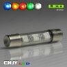 1 AMPOULE TYPE NAVETTE ANTI ERREUR C5W 12V A 1 LED HLU 31MM