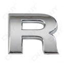 1 EMBLEME 3D RELIEF LOGO SIGLE LETTRE CHIFFRE ADHESIF 3M CHROME EN PLASTIC ABS SOLIDE QUALITE ISO NORME AUTOMOBILE