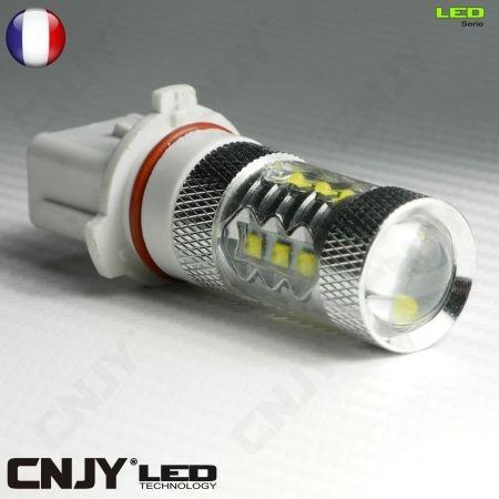 1 AMPOULE LED P13W 80W CREE LENTICULAIRE 9009 5502 P13 PSX26W 12V POUR FEUX DE JOUR & PHARE ANTI BROUILLARD