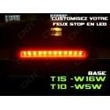1 KIT LED T10 W5W AVEC CONNECTEUR ET STRIP LED IP68-FLEX'O 60 LED /M DE 20CM (SECABLE) ADHESIVE STOP VEILLEUSE PLAFONNIER