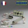 1 PANNEAU ADHESIF AVEC PRISE C5W 12V A 15 LED SMD 31MM