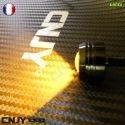 1 FEUX EAGLE LED 5W CYLINDRIQUE LENTICULAIRE IDEAL EN FEUX DE JOUR DIURNE AUTO-MOTO UNIVERSEL . VERSION ADHESIVE BLACK -12/24V