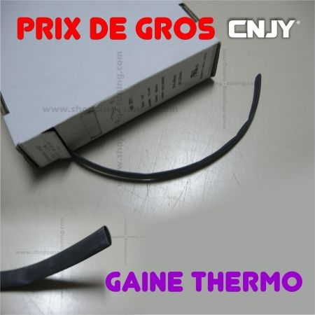 GAINE THERMO RETRACTABLE NOIR VENDUE AU METRE