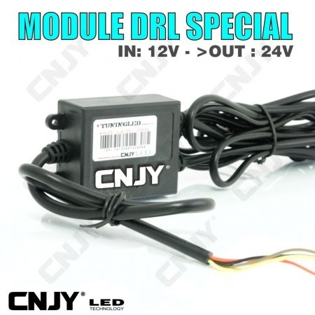 MODULE DRL VERSION - AUTOMATIQUE ou 50% OFF - SPECIAL IN: 12VDC - OUT: 24VDC POUR AUTO MONTAGE FEUX DE JOUR SPECIFIQUE