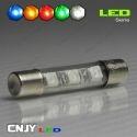 1 AMPOULE TYPE NAVETTE C5W 12V A 1 LED HLU 36MM