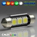 1 AMPOULE TYPE NAVETTE BI-POLAIRE C5W 12V A 6 LED SMD 36MM