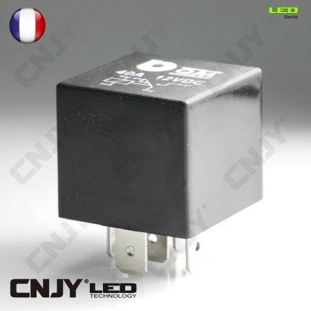 RELAIS AUTOMOBILE 5 BROCHES 12V @13.5V 40AMP