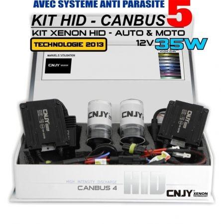 KIT DE CONVERSION HID H7-BALLAST AC CANBUS 5 TECHNOLOGIE+ SYSTEME ANTI PARASITE HAUTE PERFORMANCE AMPOULE 35W - 12V PX26D
