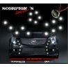 FEUX DE JOUR DIURNE SCORPION'S STYLE DS3 10x 1W LED CHROME - KIT DRL INCLU