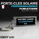 PORTE CLEF SOLAIRE PERSONNALISABLE - AUTO-MOTO-MARQUE - PUBLICITAIRE - CADEAU DE FIN D'ANNEE ENTREPRISE.