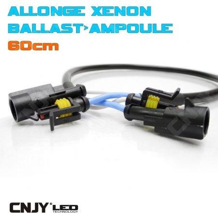 ALLONGE POUR MONTAGE DE KIT DE CONVERSION XENON HID RALLONGE AMPOULE BALLAST 60CM