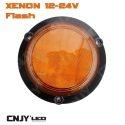 Feux à éclat 5w Sinéro orange type gyrophare 12v
