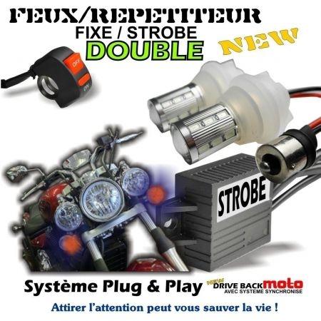 Kit led DBM à ampoule universel 28W convertible clignotant et feux de pénétration pour moto