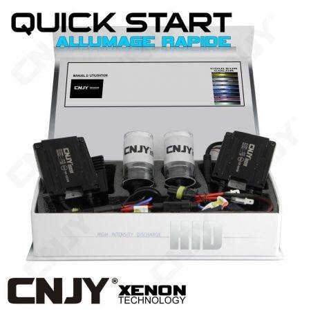 KIT DE CONVERSION XENON H11 PGJ19-2 QUICK START HID 35W 12V BALLAST SLIM CNJY A ALLUMAGE INSTANTANE - AUTO MOTO