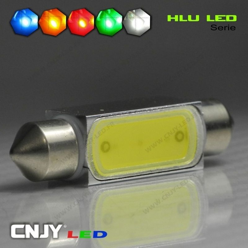 1 AMPOULE TYPE NAVETTE C5W 12V A 1 LED HLU 42MM