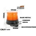 Gyrophare led orange CRONOS 48W magnétique ECE R65