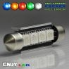 1 AMPOULE TYPE NAVETTE ANTI ERREUR C5W 12V A 4 LED SMD 42MM