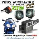 KIT FEUX AUXILIAIRE CREE MOTO AVEC MODE STROBO FLASH FEUX PENETRANT PACE CAR MOTO DRIVEBACK SYSTEME