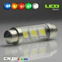 1 AMPOULE TYPE NAVETTE C5W 12V A 3 LED SMD 39MM