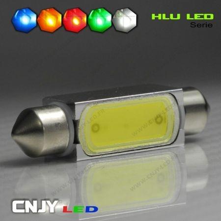 1 AMPOULE TYPE NAVETTE C5W 12V A 1 LED HLU 39MM