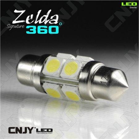 AMPOULE LED AUTO NAVETTE C5W 36mm 360° ZELDA FULL SMD 5050 -AUTO-MOTO-REMARQUE-CARAVANE -PLAFONNIER-ECLAIRAGE DE PLAGE