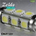AMPOULE LED AUTO NAVETTE C10W 42mm 360° ZELDA FULL 12SMD 5050 -AUTO-MOTO-REMORQUE-CARAVANE -PLAFONNIER-ECLAIRAGE DE PLAQUE