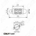 AMPOULE LED AUTO NAVETTE C5W 39mm 360° ZELDA FULL SMD 5050 -AUTO-MOTO-REMORQUE-CARAVANE -PLAFONNIER-ECLAIRAGE DE PLAQUE