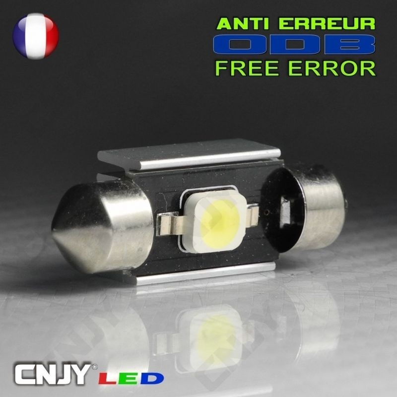 1 AMPOULE ANTI ERREUR TYPE NAVETTE C5W 12V A 1 LED OSRAM 36MM