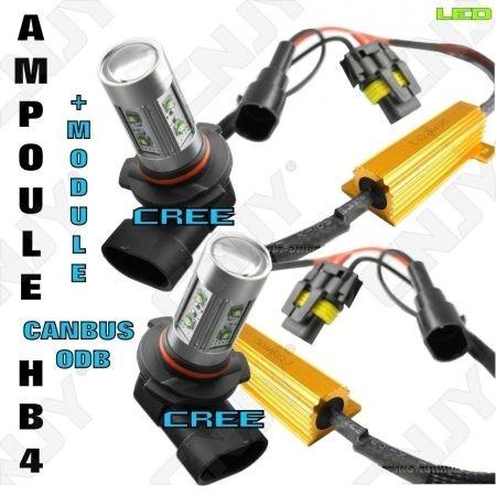 2 AMPOULE LED HB4 9006 CREE 50W + MODULE CANBUS ANTI ERREUR ODB POUR SEAT LEON 2 FEUX ANTI BROUILLARD & FEUX DE VIRAGE