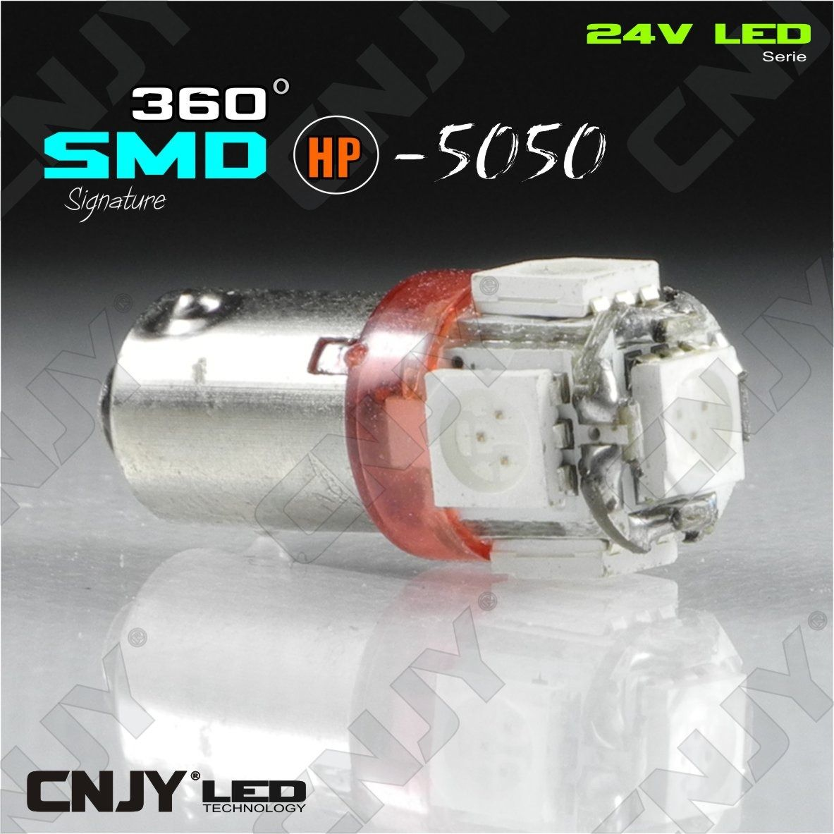 ampoule,light,bulb,led,truck,camion,ba9s,t4w,9mm,24v,dc,polarisee,5,led,smd,ROUGE,red,rojo