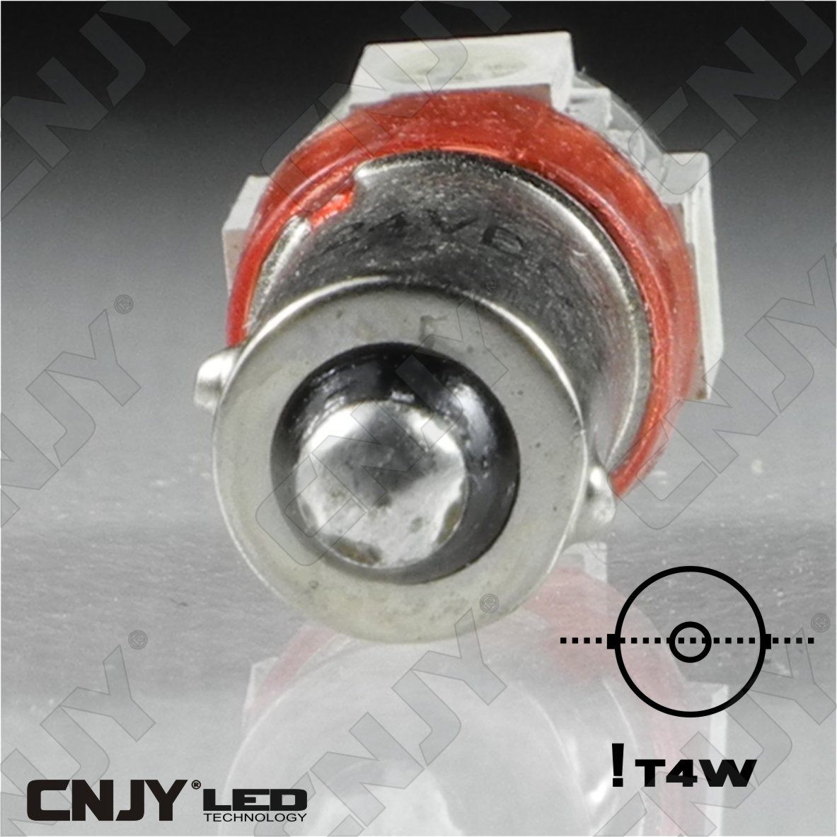 ampoule,light,bulb,led,truck,camion,ba9s,t4w,9mm,24v,dc,polarisee,5,led,smd,blanc,6000k