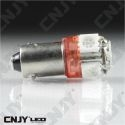 1 AMPOULE LED CAMION BA9S T4W 24V DC POLARISEE 5 LED SMD ROUGE