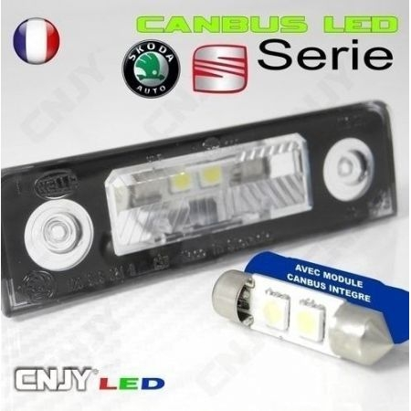 1 AMPOULE ANTI ERREUR TYPE NAVETTE C5W 12V A 2 LED CANBUS SPECIAL SEAT LEON 36MM