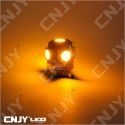 1 AMPOULE LED CAMION BA9S T4W 24V DC POLARISEE 5 LED SMD ROUGE ORANGE