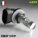 AMPOULE LED AUTO 12V H27-880-881- CREE LED 6000K 25W ANTI BROUILLARD 12mm