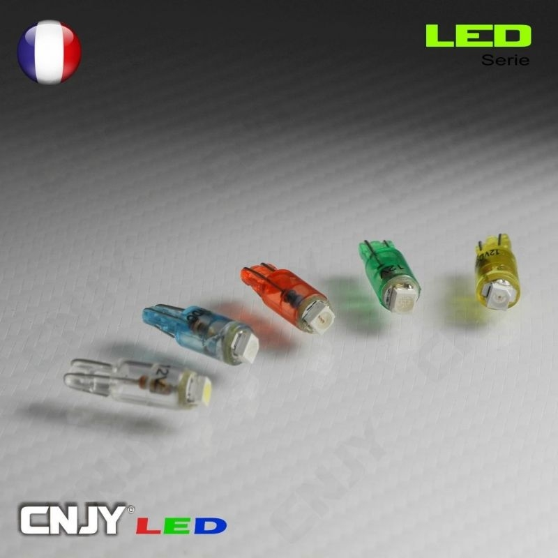 1 AMPOULE LED T5 - 1 LED SMD WEDGE 1.2W