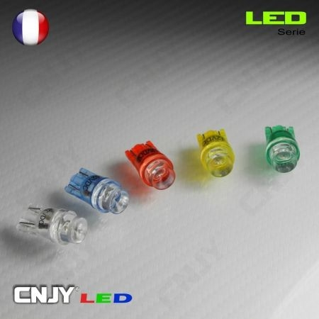 1 AMPOULE LED T10 W2.1x9.5D - 1 LED CONCAVE WEDGE