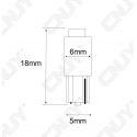 1 AMPOULE LED T5 - 1 LED SMD WEDGE W1.2W- COMPTEUR ET TABLEAU DE BORD BLANC/BLEU/ROUGE/VERT/ORANGE