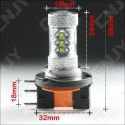 AMPOULE LED H15 CREE XPE 80W 55/15w DRL CANBUS CULOT PGJ23T-1 6000K LENTICULAIRE 12V AUTO MOTO