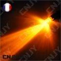 AMPOULE 1 LED ORANGE CONVEXE T10 W5W 24V DC -CULOT W2.1x9.5D POUR VEILLEUSE, FEUX DE PLAQUE, GABARIT CAMION