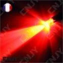 AMPOULE 1 LED ROUGE CONVEXE T10 W5W 24V DC -CULOT W2.1x9.5D POUR VEILLEUSE, FEUX DE PLAQUE, GABARIT CAMION